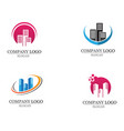apartment logo design for business corporate sign vector image vector image