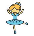 ballerina balet dancer dancing girl concept vector image