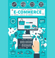 banners of internet e-commerce vector image vector image