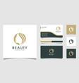 beauty nature logo design premium vector image vector image