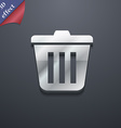 Bin icon symbol 3D style Trendy modern design with vector image
