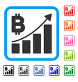 bitcoin growth trend framed icon vector image vector image