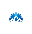 blue mountain abstract logo vector image vector image