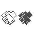 business handshake line and glyph icon hands vector image