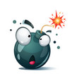 cartoon bomb fuse wick spark icon surprise vector image