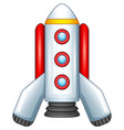 cartoon spaceship isolated on white background vector image vector image