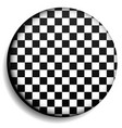 checkered circle checkered sphere vector image