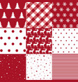 christmas pattern set and vector image