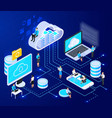 cloud networking isometric composition vector image vector image