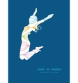 colorful horizontal ogee jumping girl vector image