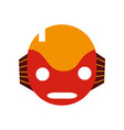 colorful robot head technology with ears and mouth vector image