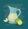colorful teapot kitchen design vector image vector image
