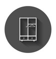 cupboard furniture icon furniture with long shadow vector image