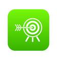 darts icon digital green vector image vector image