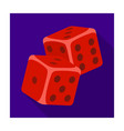 dice for games in the casino stones to throw on vector image
