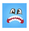 disconcerted smiley face icon vector image vector image