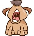 dog yawn cartoon vector image
