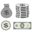 dollar set vector image