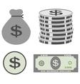 dollar set vector image vector image