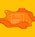 dynamic shapes orange background vector image