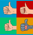 family thumbs up pop art vector image