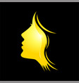 female beauty face logo vector image vector image