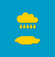 flat icon cloud and drops rain vector image vector image