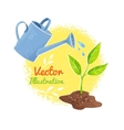 Flower and watering can vector image