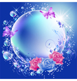 Flowers butterflies and bubbles vector image vector image