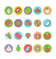 Fruits and Vegetables Icons 4 vector image