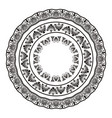 greek national antique round pattern vector image