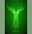 green geometric deer head vector image