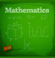 green mathematics background vector image vector image