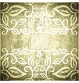 Grunge Vintage Floral Frame vector image