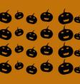 halloween pumpkins pattern vector image vector image