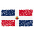 hand drawn national flag of dominican republic vector image vector image
