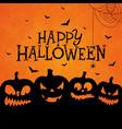 happy halloween banner with scary vector image vector image