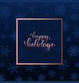 happy holidays hand drawn brush pen lettering vector image