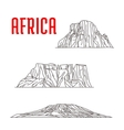 Historic landmarks and sightseeings of Africa vector image vector image