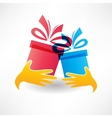 holiday gifts icon vector image vector image