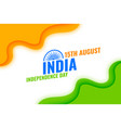indian independence day wave flag background vector image vector image
