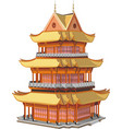 japanese pagoda vector image