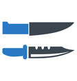 knives flat icon vector image vector image
