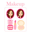 Make-up girl vector image vector image