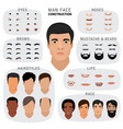 man face constructor male character avatar vector image