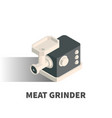 meat grinder icon symbol vector image