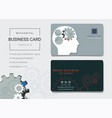 mechanical business card or name card template vector image