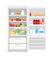 modern opened refrigerator vector image vector image