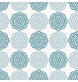 Navy blue lace flower pattern on white background vector image