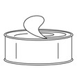 open tin can icon outline style vector image vector image